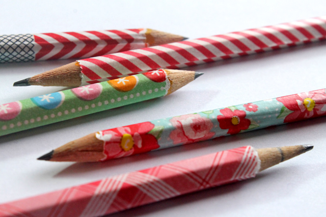 3rd DIY! Fabric tape pencils